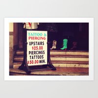 Tattoo & Piercing Art Print