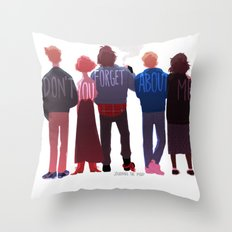 The Club Of Five Throw Pillow