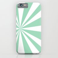 iPhone & iPod Case featuring Mint Starburst by Project M