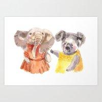 Two friends Art Print