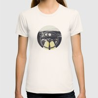 From Behind The Wheel - … Womens Fitted Tee Natural SMALL