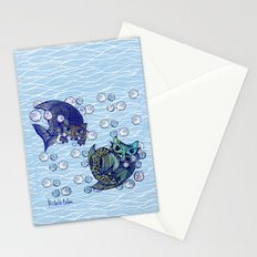 Cats print Stationery Cards