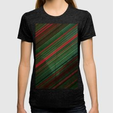 Green Grunge Womens Fitted Tee Tri-Black SMALL