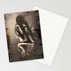 I Miss Us  (wood texture) Stationery Cards