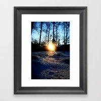 Snowset Framed Art Print