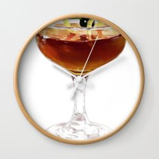 Game Set Match cocktail Wall Clock