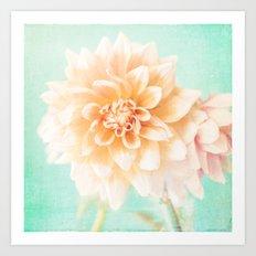 Flower Peachy Bloom Art Print
