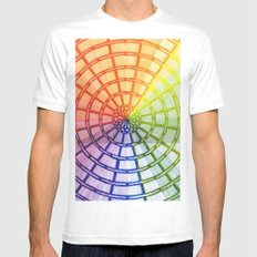 Rainbow maze Mens Fitted Tee White SMALL