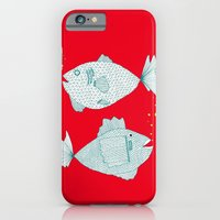 iPhone & iPod Case featuring Two Old Fish by lush tart