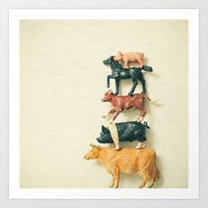 Animal Antics Art Print