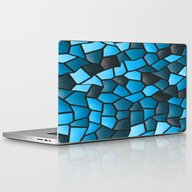 Turquoise And Black Mosa… Laptop & iPad Skin
