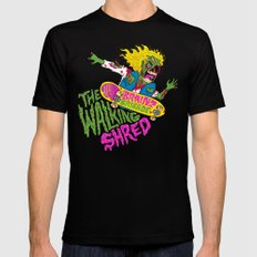 The Walking Shred Black SMALL Mens Fitted Tee