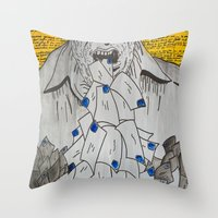 We Are Eaten Up By Nothi… Throw Pillow