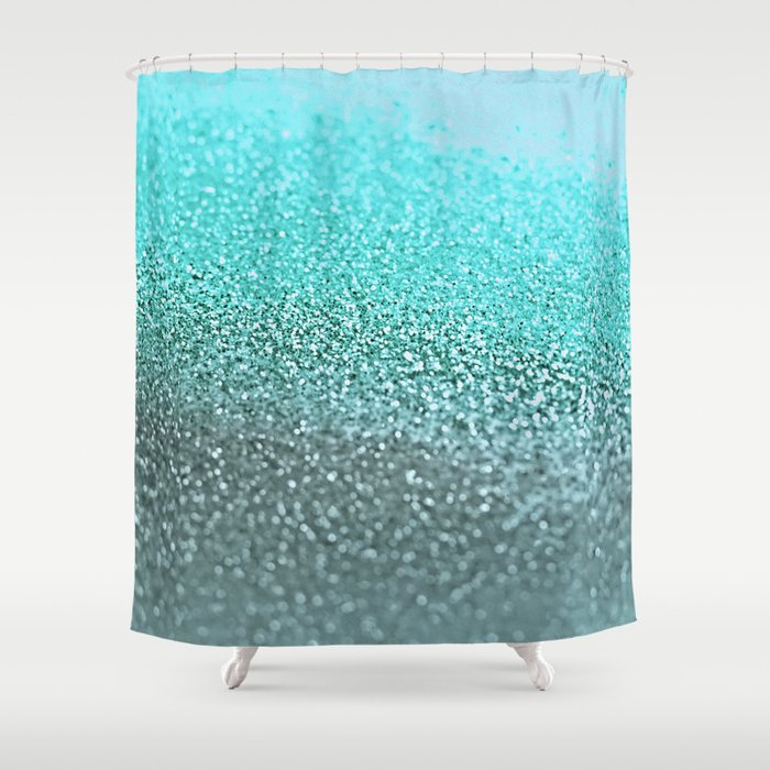 teal shower curtain by monika strigel society6. Black Bedroom Furniture Sets. Home Design Ideas
