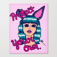 Protect Your Own Canvas Print