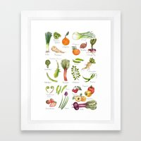 Calendar-January Thru Ju… Framed Art Print