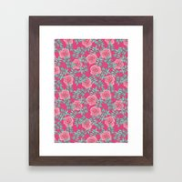Roses Pink Framed Art Print