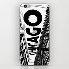 Cities in Black - Chicago iPhone & iPod Skin