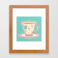 Flamingo Tea Framed Art Print
