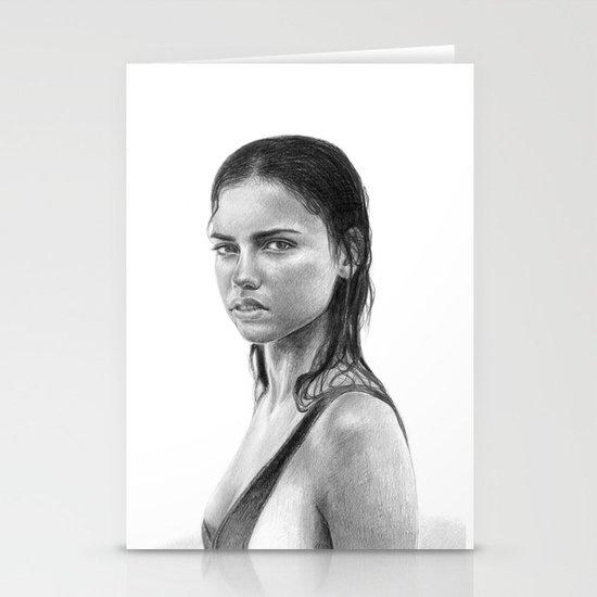 Adriana Lima Stationery Card