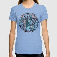 Funky in the Middle Womens Fitted Tee Athletic Blue SMALL