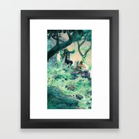 Vile Evan the Slimeophage Framed Art Print