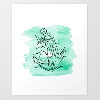 Live A Salty Life Art Print