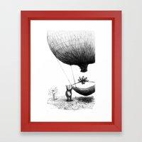 Zander And His Balloon  Framed Art Print