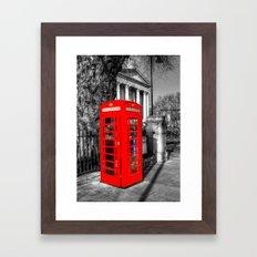 London Red Telephone Box Framed Art Print