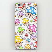 Iddy Diddy Mushrooms  iPhone & iPod Skin