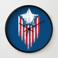 Star & Stripes Wall Clock