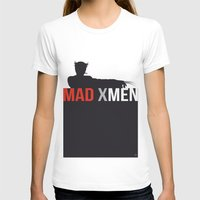 MAD X MEN Womens Fitted Tee White SMALL