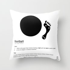 Football is Referred as Throw Pillow