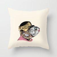 Mrs. Fish Throw Pillow