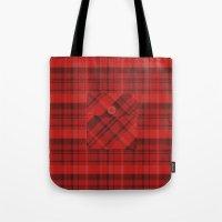 Plaid Pocket - Red Tote Bag