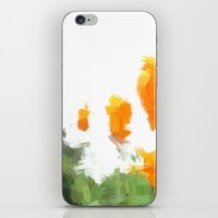 BLOSSOMS - ORANGE GREEN iPhone & iPod Skin