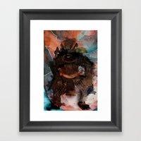 Samurai's Despair Framed Art Print