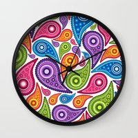 Crazy Paisley Wall Clock