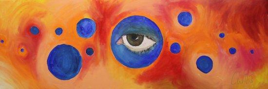 Self Portrait #5: Gazing Ball Art Print