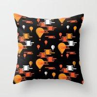Travel - Hot Air Throw Pillow