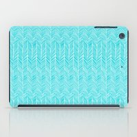 Freeform Arrows in turquoise iPad Case