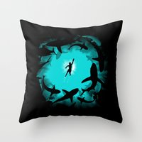 Sweet Pool Throw Pillow