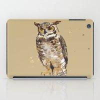 Great Horned Owl - Gertrude iPad Case