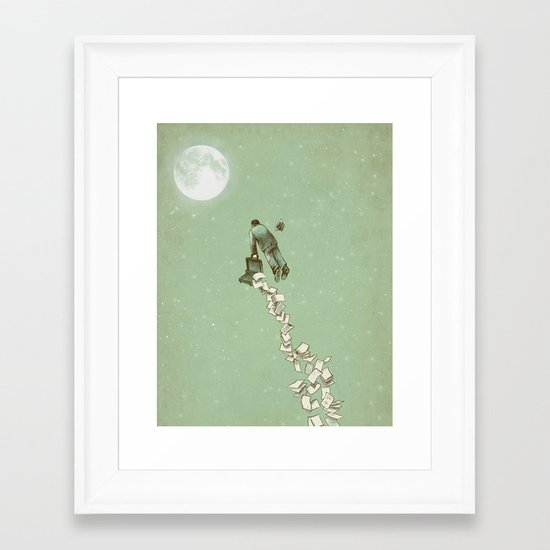 Solitary Flight Framed Art Print