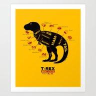 Dino Deli Art Print