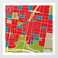 Vintage Style Map of Yarraville Art Print