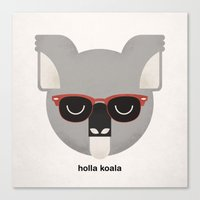 Holla Koala Canvas Print