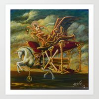 Flight Of The Byplaneaco… Art Print