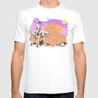Walker Tejas Ranger Mens Fitted Tee White SMALL