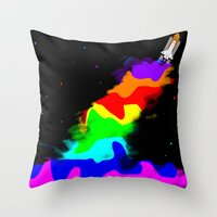 Launch To Space  Throw Pillow